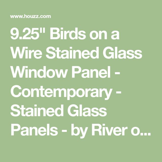 "9.25"" Birds on a Wire Stained Glass Window Panel - Contemporary - Stained Glass Panels - by River of Goods"