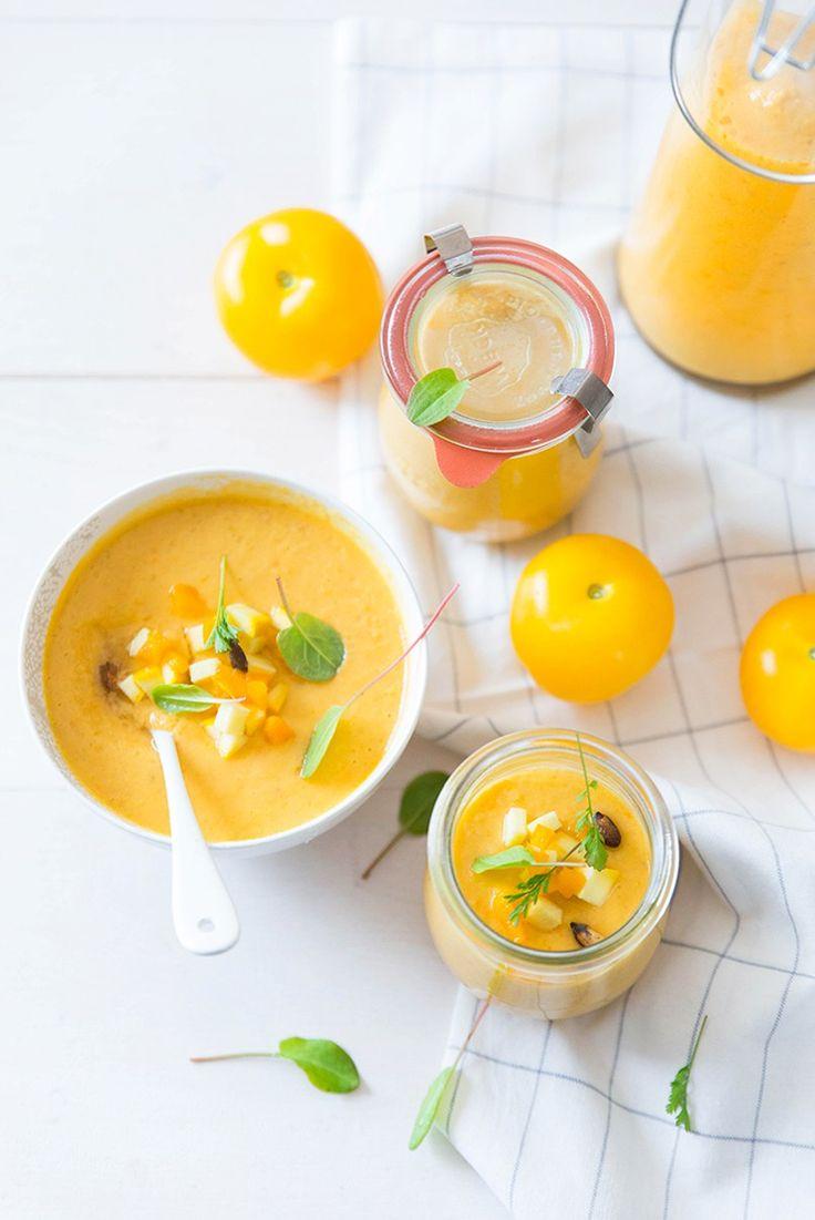 Gaspacho de tomates jaunes / Yellow tomatoes gazpacho ©Fraise & Basilic