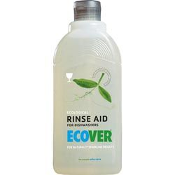 Ecover Dishwasher Rinse Aid 500ml Ecover dishwasher rinse aid benefits:  - for naturally shiny dishes without streaks  - prevents calcium deposits.  - no residue of unnecessary chemicals on your dishes