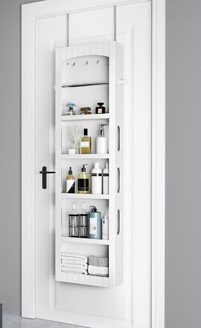 14 Brilliant Storage Ideas For Small Spaces Bathroom Storage Cabinet In 2020 Small Bathroom Storage Small Space Bathroom Diy Bathroom Storage