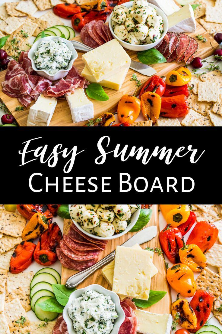 Today I'm giving you everything you need to put together this Easy Gluten Free Summer Cheese Board, which can be as simp…