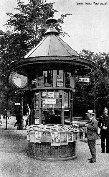 Alfred Grenander, Zeitungskiosk am Knie (Berlin), Alfred Frederik Elias Grenander (* 26. Juni 1863 in Skövde, Schweden; † 14. Juli 1931 in Berlin) war ein schwedischer Architekt, der größtenteils in Berlin gewirkt hat. Grenander hatte entscheidenden Anteil an der Entwicklung Berlins zur Weltstadt und modernen Architekturmetropole ab 1900.