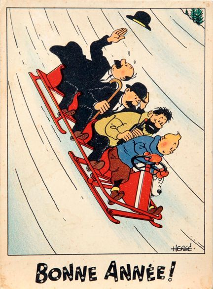 Bonne Année from Tintin! { happy new year in French }