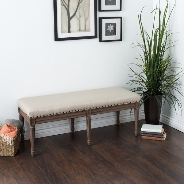 Add To Your Dining Rooms Look And Function With This Elegant Padded Bench By Elements Benchs Solid Wood Construction Ensures Lasting