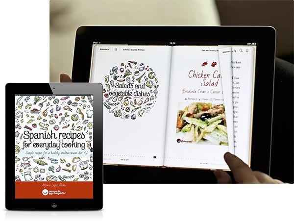 Spanish Recipes eBook by Jimena Catalina, via Behance