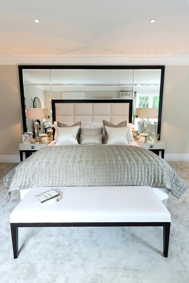 Mirror Headboard Bed Huge Mirror Served Bed Headboard Helped Make