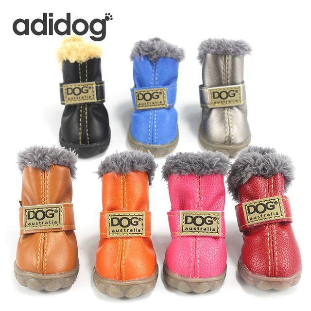 Discount Today $6.86, Buy Pet Dog Shoes Winter Super Warm 4pcs/set Dog's Boots Cotton Anti Slip XS 2XL Shoes for Small Pet Product ChiHuaHua Waterproof