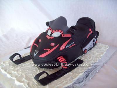 Make Arctic Cat Snowmobile Cake