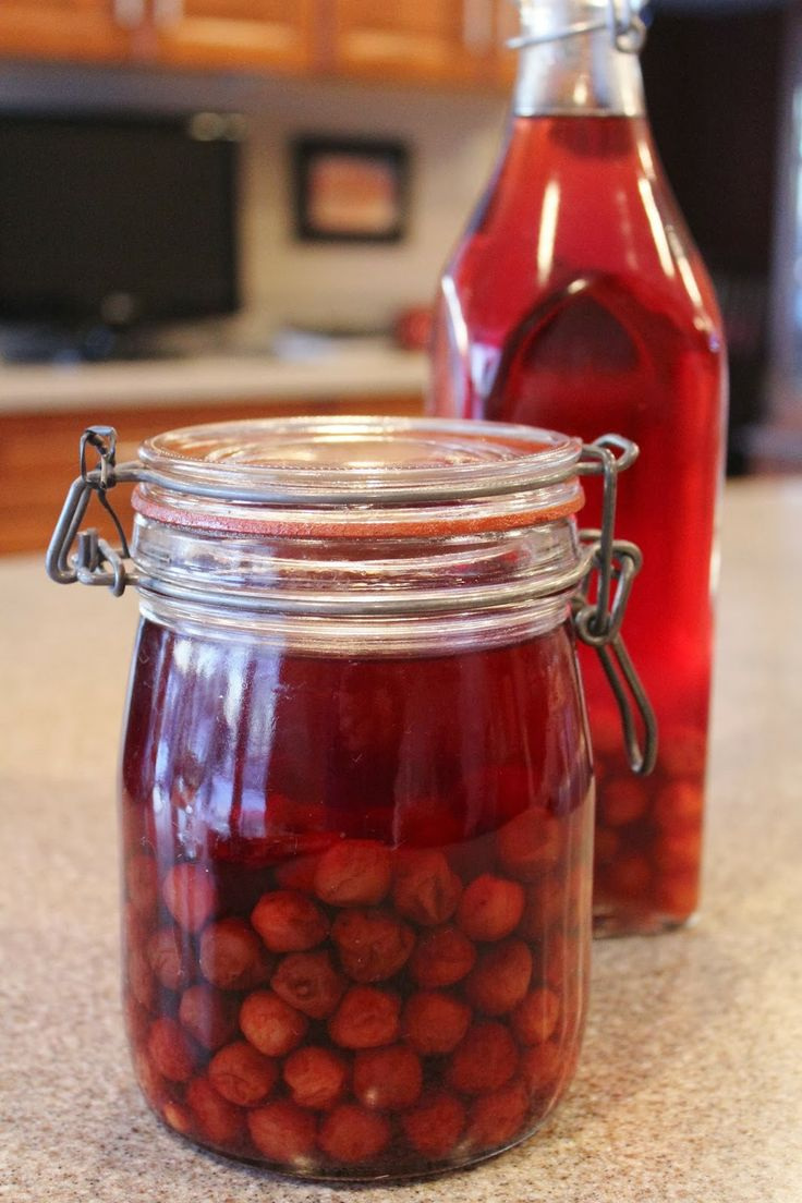 ~Ohio Thoughts~: Easy Homemade Cherry Brandy (Visinata)