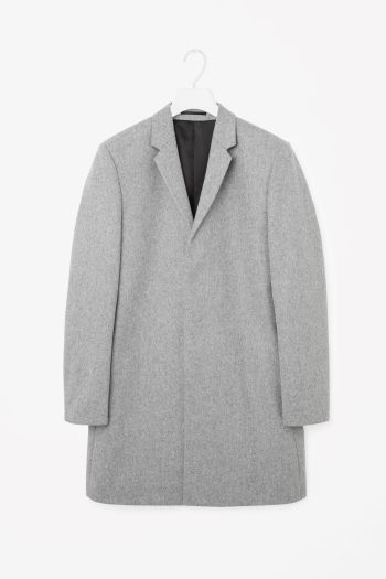 COS image 2 of Wool coat in Grey