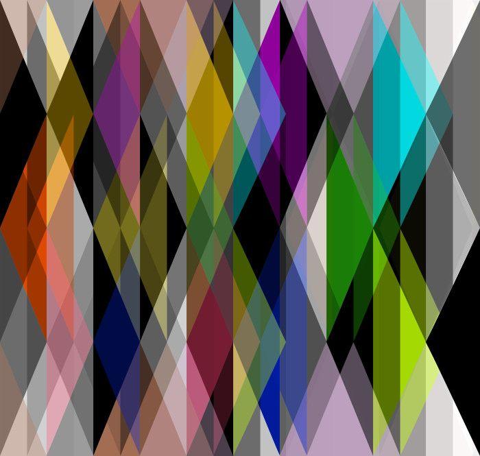 Художественный геометрический узор обоев