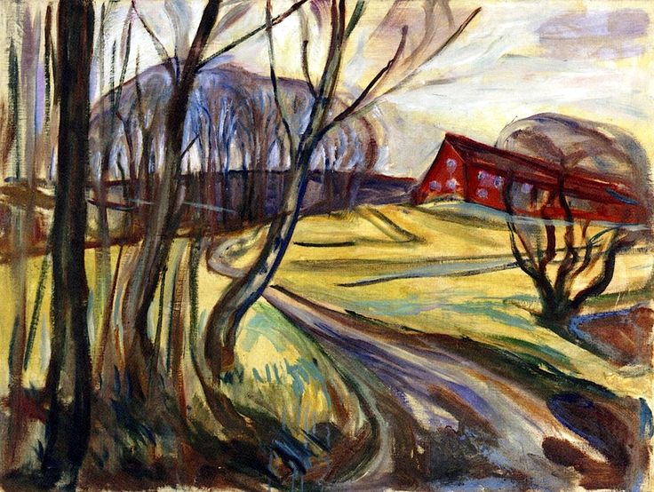 The Red House Edvard Munch - 1926