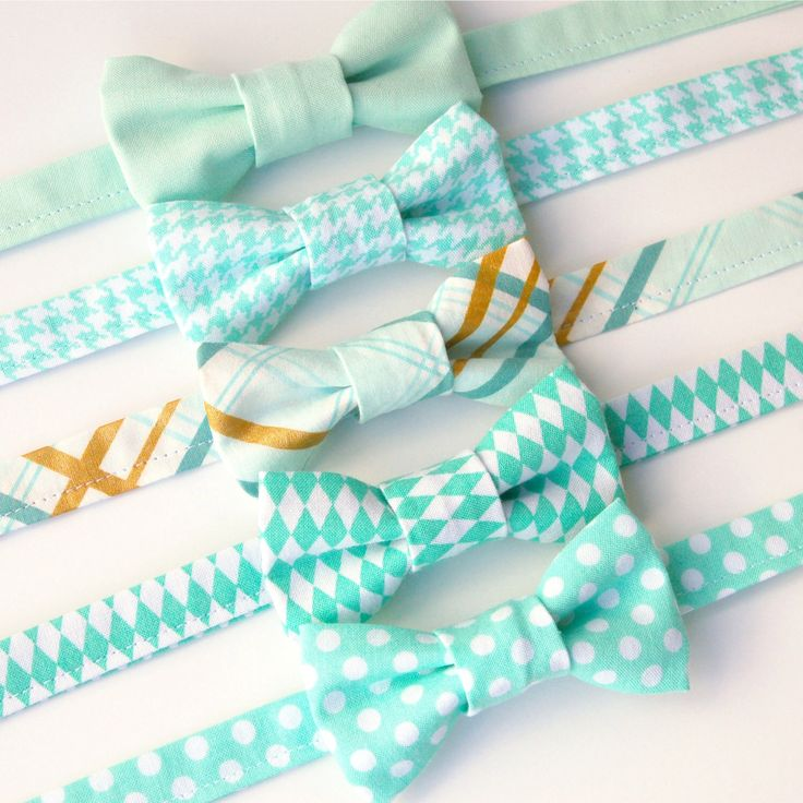 Boys Bow Ties - Mint, Seafoam, Green - Baby Toddler Kids - Polka Dot Gingham - Cake Smash Ring Bearer Wedding Family Photos by EvaandDell on Etsy https://www.etsy.com/listing/249070477/boys-bow-ties-mint-seafoam-green-baby