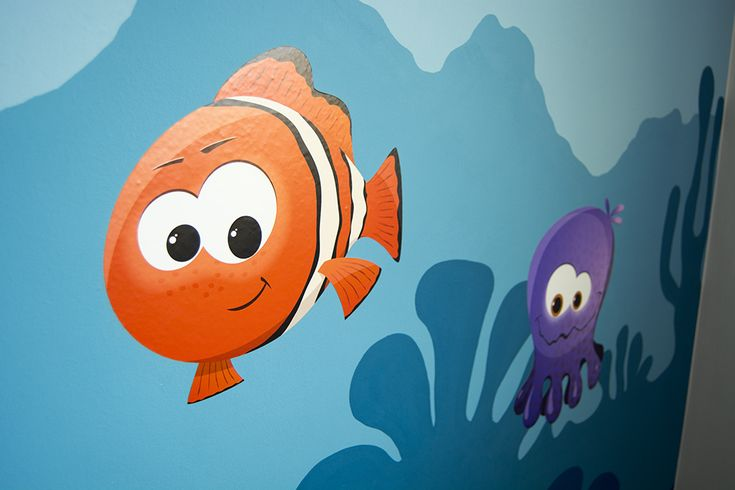 """wall painting and stickers """"Bob and Olivia"""""""