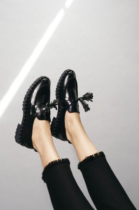 Frayed black jeans, Claudie Pierlot