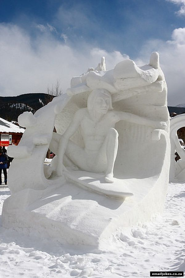 Funny snow sculptures amazing adult