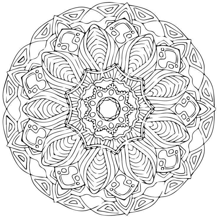 Mejores 30 imágenes de Mandalas para pintar en Pinterest | Hojas ...
