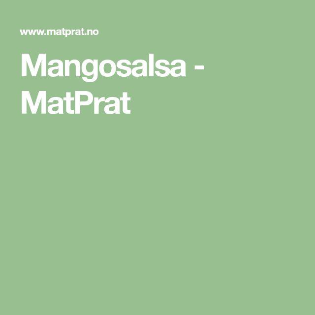 Mangosalsa - MatPrat
