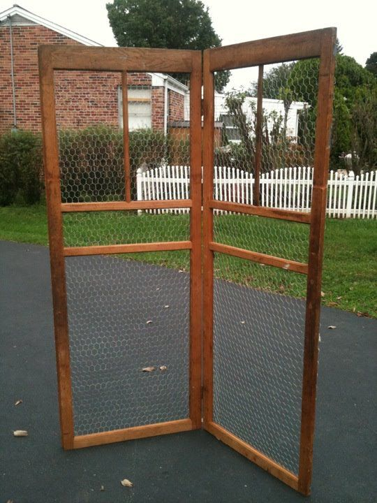 Screen Door With Chicken Wire Would Make A Cute Trellis