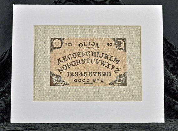 Ouija Board print on natural canvas  occult di RagsAndOldIron13
