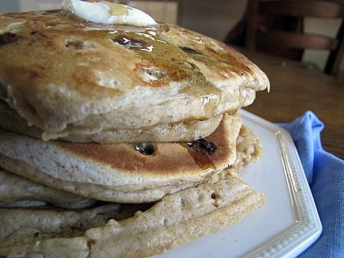 Whole wheat chocolate chip pancakes | Breakfast: Pancakes, Muffins, B ...