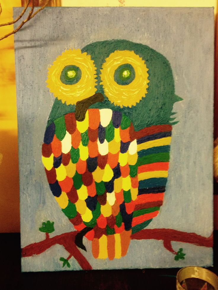 Owl in oils