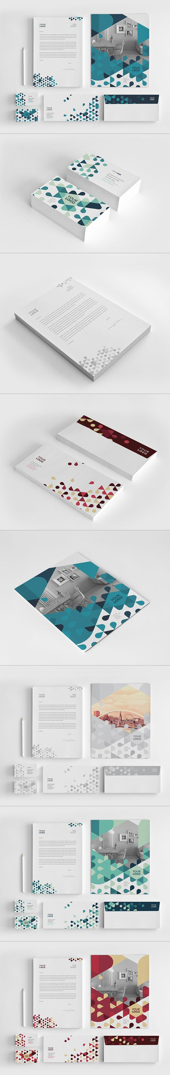 Young Modern Stationery. Download here: http://graphicriver.net/item/young-modern-stationery/8407744?ref=abradesign #design #stationery
