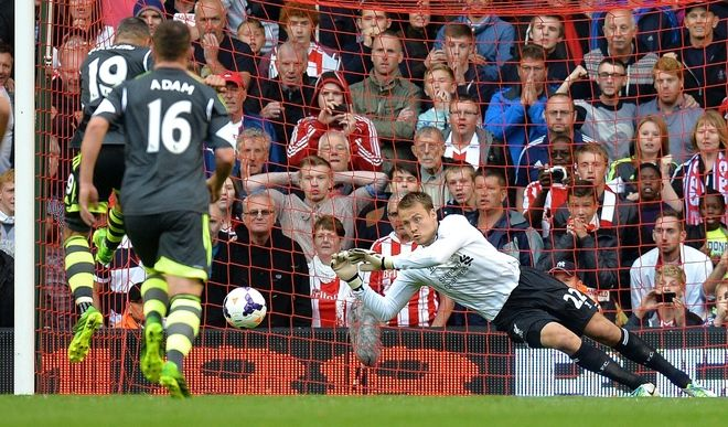 20130818 Simon Mignolet makes his great debut in the 1st game of the season - Liverpool (1) defeated Stoke City (0)
