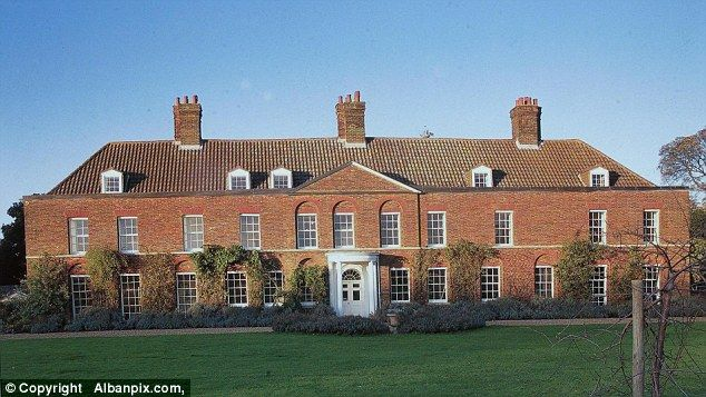 Renovation: Amner Hall, the Duke and Duchess of Cambridge's home in Norfolk, will be ready for Kate and her family to stay there at Christmas.