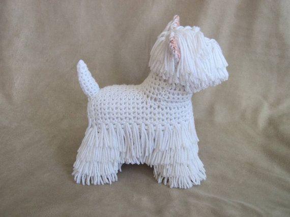 Westie PDF Crochet Pattern Digital Download por ScareCrowOriginals