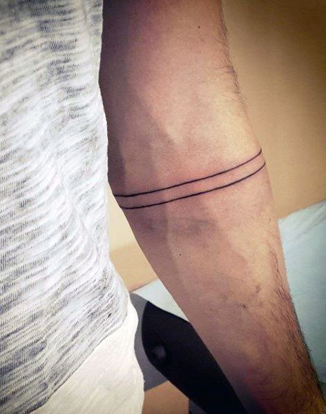 Arm Band Men's Simple Tattoo