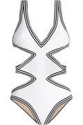 $300, Karla Colletto - Cutout Halterneck Swimsuit | Net-A-Porter