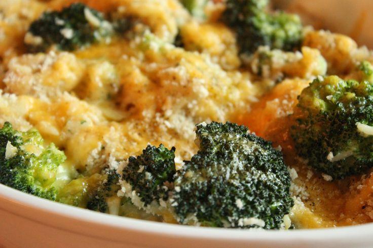Zapečená brokolice s rýží a kuřecím masem
