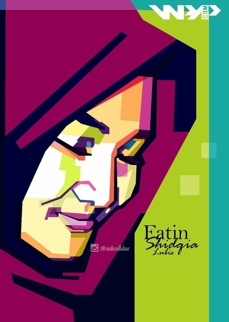 Wpap Hijab In Fatin Sidqia lubis By andreallabar