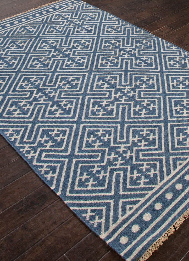 Batik Lahu Indigo Blue Floral White Area Rug In 2019