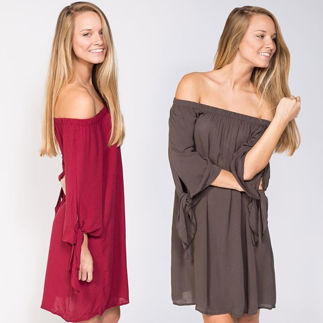 Need the PERFECT Country Concert Dress or Night on the town Dress?! Olly Off the Shoulder Dress {$42} Available in Black too! Call/Text to Order! 402.884.6499 #xoxofoursisters