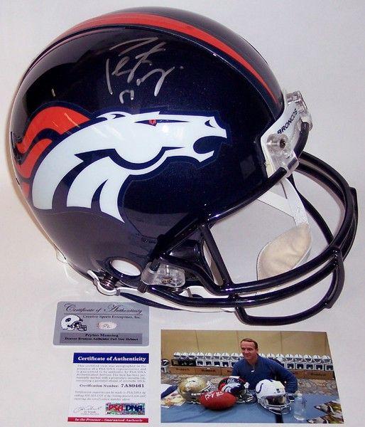 Peyton Manning - Autographed Official Full Size Riddell Authentic Proline Football Helmet - Denver Broncos - PSA/DNA