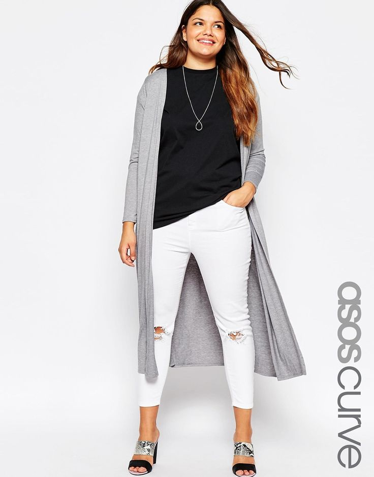 Love the long flowing look. ASOS CURVE Longline Maxi Cardigan