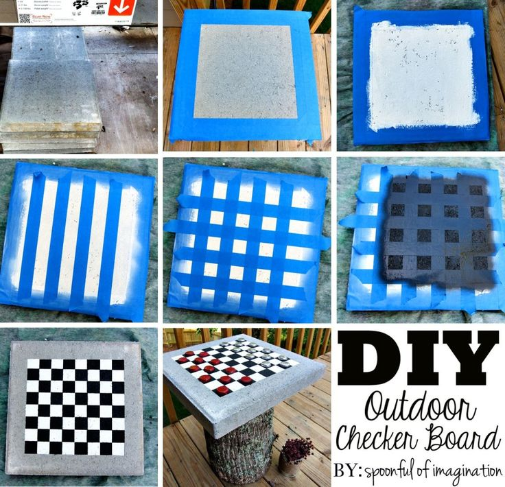 Diy Outdoor Checker Board Outdoor Checkers Checkerboard