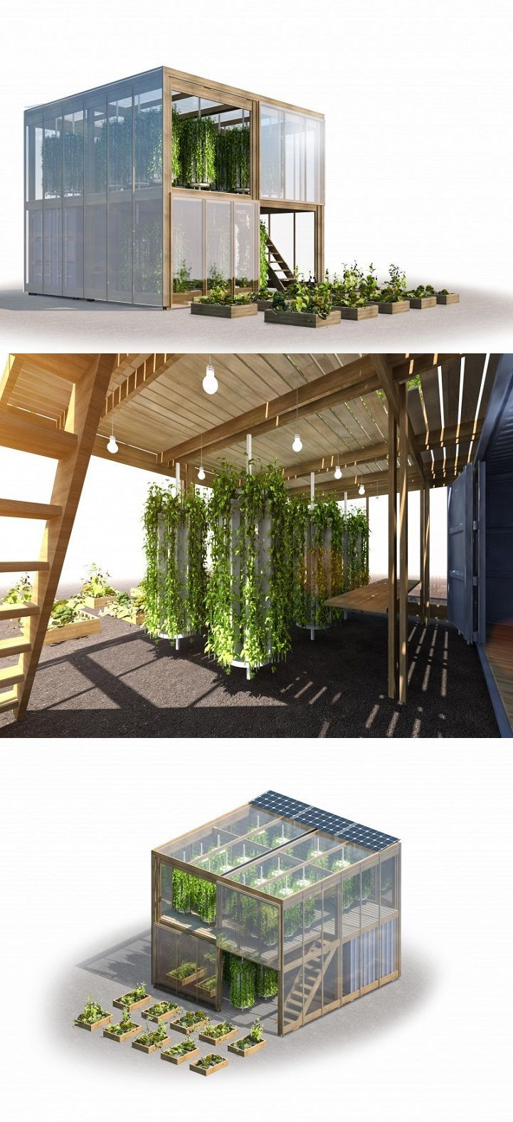 At just 538 square feet, this vertical garden is specifically designed to fit into tight, urban spaces.