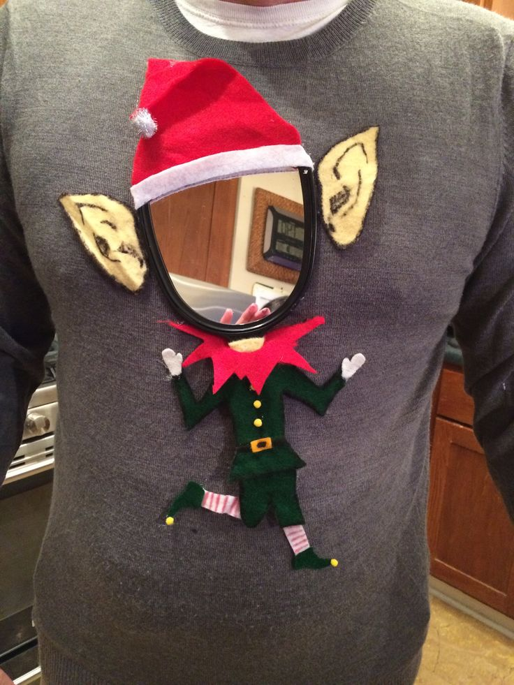 Last minute ugly Christmas sweater creation for office party!