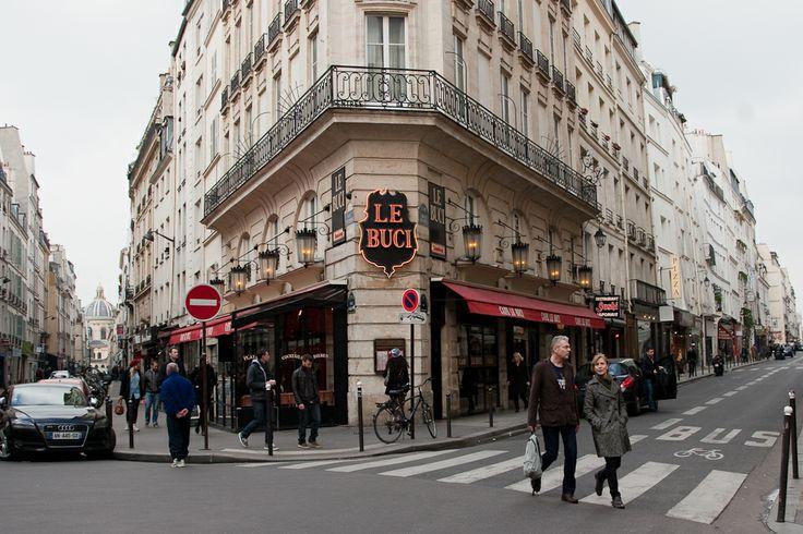 Rue de Buci in the heart of Saint-Germain des Pres