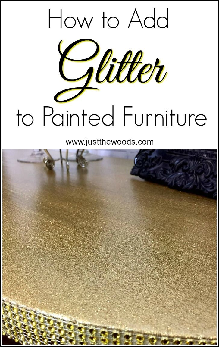 how to add glitter to you painted furniture projects for that extra wow factory. Glitter and glam painted desk