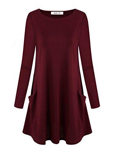 Camicette da Donna DSUK Maglietta Camicia Tinta Unita Vestiti Maniche  Lunghe Estate Casual di Moda Primavera 3b8031c7b90