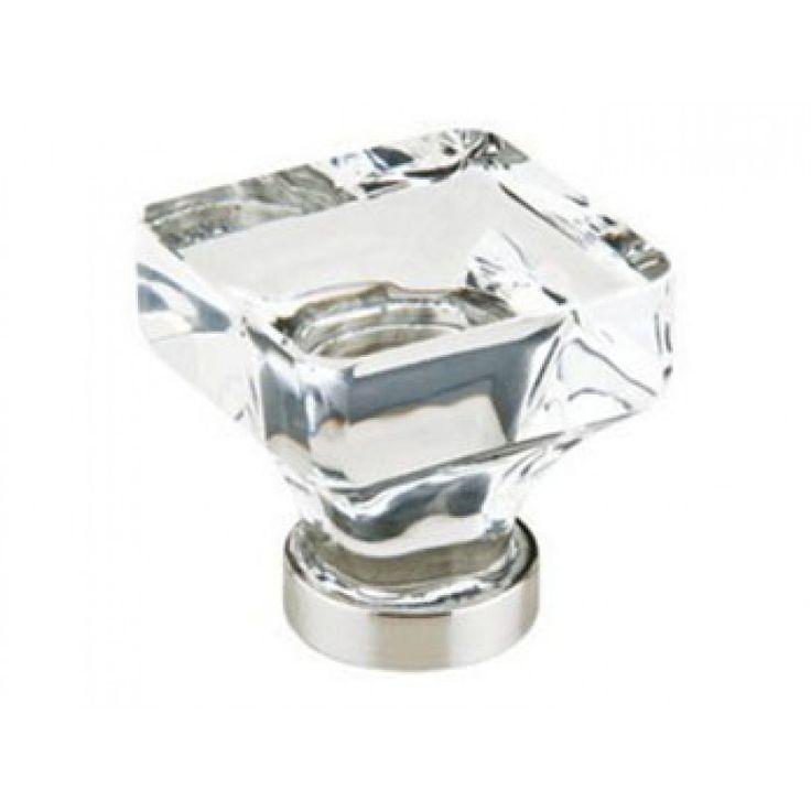 emtek products inc emtek lido crystal cabinet knob polished nickel the hardware hut