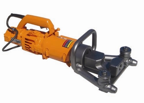 """DBR-25WH.  This rebar bender bends 1"""" Grade 60 rebar up to 90 degrees and also straightens rebar bent 45 degrees or less. Its interchangeable die covers rebar diameters from 1/2"""" -1"""""""