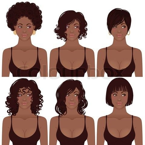 Love switching it up..African Shorts Hairstyles, African American Hairstyles, Vector Illustration, African Americans, Woman, Women Face, African American Women, Hair Style, Black Women