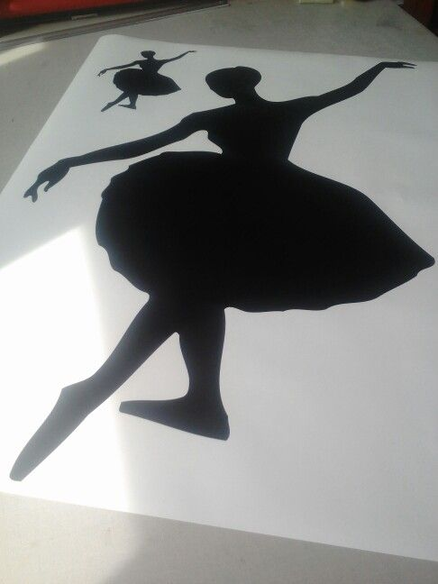 Dancing woman wall decal stickers