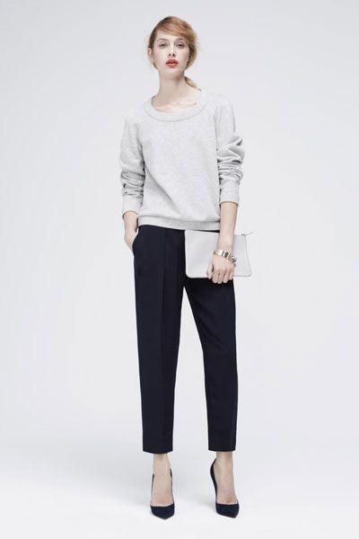 Atea Sweatshirt, $225, available at Atea; Atea Cropped Tapered Pants, $325, available at Atea.