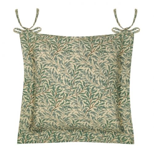 William Morris Luxury Willow Bough Green Seat Pad and Cushion range by Le Chateau.